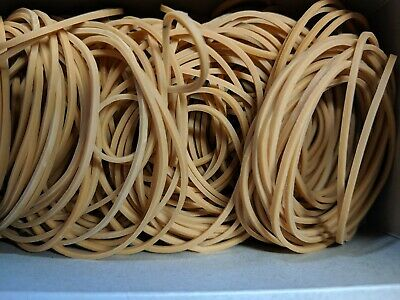 Size 18 Rubber Bands 80mm x 1.5mm 100gm Bag