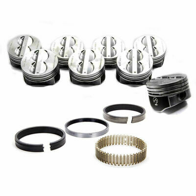 Chevy Chevrolet 350 5.7l Sbc Enginetech Dish Top Pistons And Moly Rings 67-95