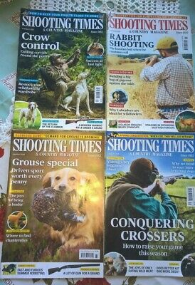 Shooting Times & Country Magazines x 4 all August 2018