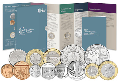 2017 UK Annual 13 Coin Set BUNC Collection 12 Sided £1 Pound Coin