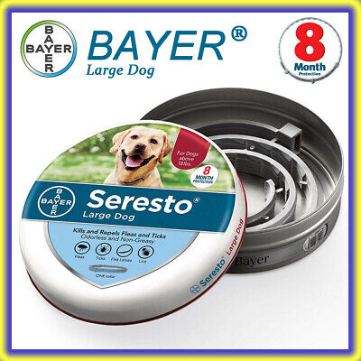 Bayer Seresto Flea and Tick Collar for Large Dog, 8 Month Continuous Protection