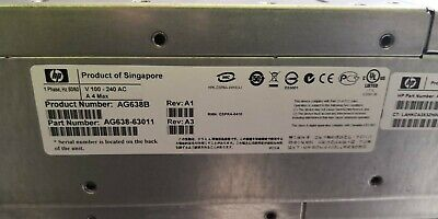 HP StorageWorks EVA4400 12-Bay Storage Shelf Array ENCLOSURE AG638-63011 AG638B