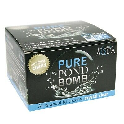 EVOLUTION AQUA Pure Pond Bomb Cleaning Treatment Clear Health Fish Pond Water
