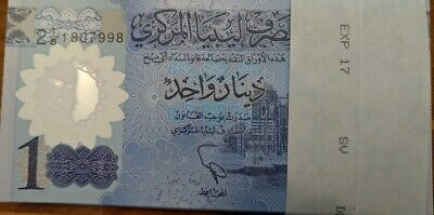 New LIBYA 1 one DINAR Polymer BANKNOTE UNCIRCULATED 2019