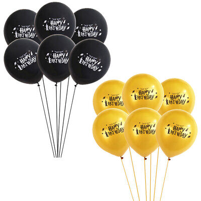 10x Harry Potter Gold Black Latex Balloons Happy Birthday Party Decorations 12""