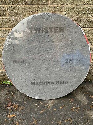 "Twister Cleaning Technology 27"" Red 400 Grit Pads Pack of 2"