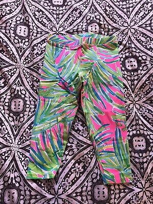 Lilly Pulitzer Girl's Maia Leggings Early Bloomer Size L 8-10