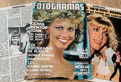 Olivia Newton-John Fotogramas Grease magazine cover + article clipping