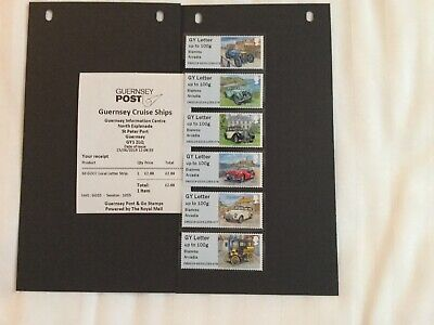 2019 GUERNSEY POST & GO LOCAL LETTER STRIP Cruise Ship Overprints - One Day Only