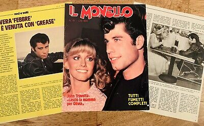 Olivia Newton-John John Travolta Il Monello Grease magazine article clipping