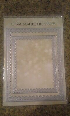 Gina Marie designs metal cutting dies - Frames scalloped stitched rectangles