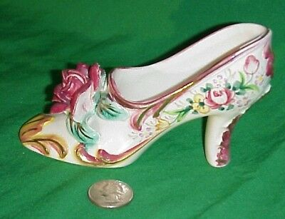 Antique Early 20th Century Iwata Japan Hand Painted Porcelain Show Figurine Rose