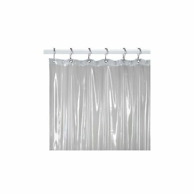 Medium Weight Shower Curtain Liner in Clear