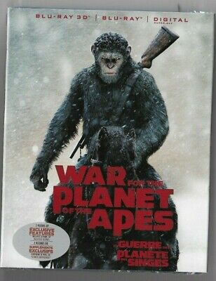 Sealed BLU-RAY 3D + Digital - WAR FOR THE PLANET OF THE APES - Also In French