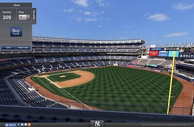 4 Yankees vs Tampa Rays Terrace tix + Free Hot Dog + Beer for Monday, July 15th