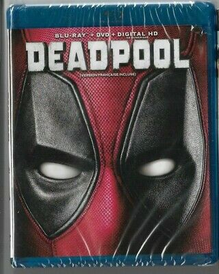 Sealed New Blu-Ray + DVD - Digital HD - DEADPOOL - Also In French