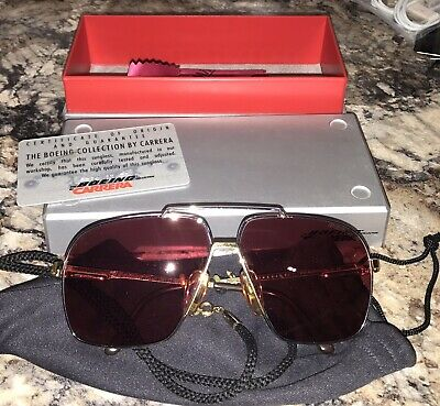 BOEING CARRERA SUNGLASSES 5704-41-130 Made in Austria AVIATOR w/Case