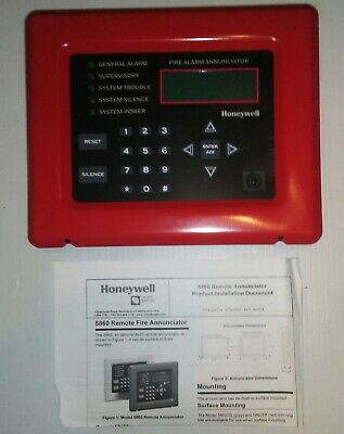 Honeywell/Silent Knight 5860R, Remote Annunciator, Red, New, Free Shipping