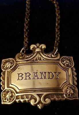 Unmarked silver Decanter Tag, Brandy