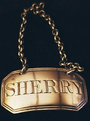 Sterling Silver Decanter Tag,Sherry,by John Rich,1797