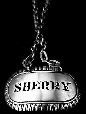 18th C Sterling Silver Decanter Tag,1780, by Thomas Edwards,SHERRY