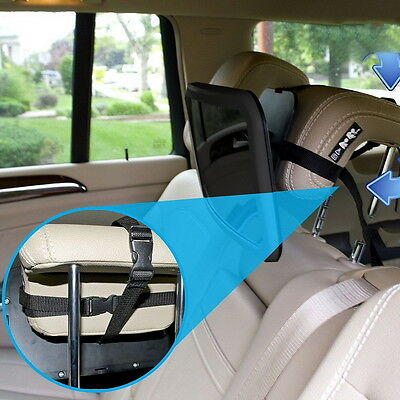 LARGE ADJUSTABLE VIEW REAR/BABY/CHILD SEAT CAR SAFETY MIRROR HEADREST MOUNT  Jm