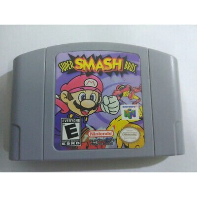 Video Game Card Cartridge For Super Smash Bros Nintendo N64 US/CAN Version Q3M8H