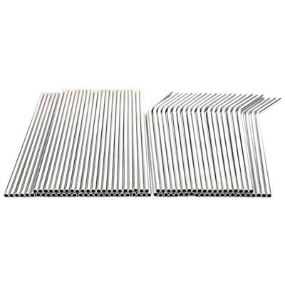 1X(100pcs Metal Straws Can Be Reused 304 Stainless Steel Drinking Water Pip C2H3