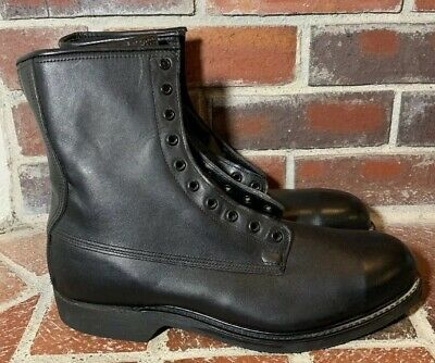 COVE schuhe SZ 13 D MADE IN MILITARY Stiefel schwarz NEW