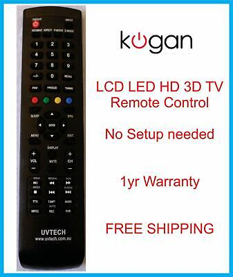 New Kogan Led Lcd Tv Remote Control Multiple Model Numbers