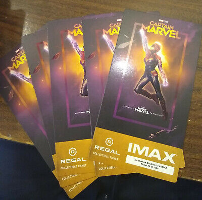 Captain Marvel Collectible Limited Regal IMAX 3D Movie Ticket NEW