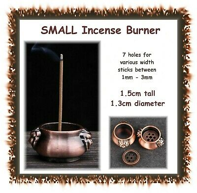 Incense burner / holder - 7 holes for sticks - hole widths 1mm-3mm- insense cone