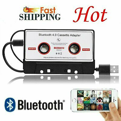 Bluetooth 4.0 Car Tape Cassette AUX Audio Adapter For iPhone iPod MP3 Stereo