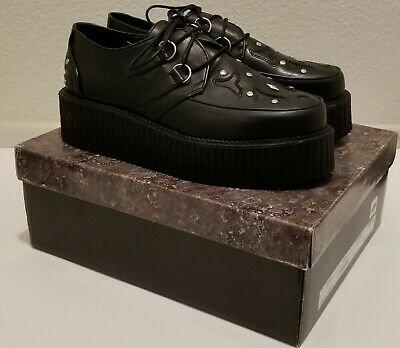 Goth shoes punk shoes  Demonia v-creeper-505 Punk Metal shoes Witch shoes