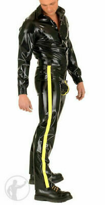 Latex Rubber Gummi Catsuit Kostüm Ganzanzug Uniform Zentai Set uniform Suit