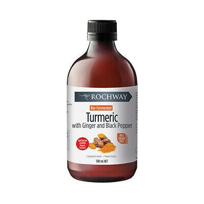Rochway Bio-Fermented Turmeric with Ginger & Black Pepper 500ml Probiotics
