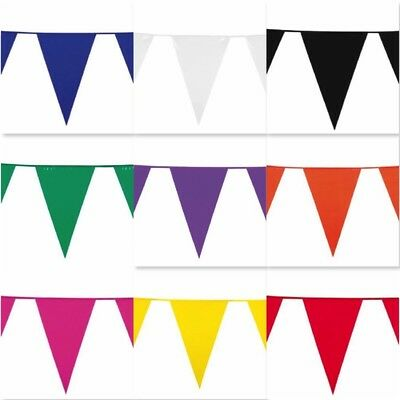 10m COLOUR BUNTING FLAGS PENNANTS PARTY DECORATIONS PARTy FLAG WEDDING CHRISTMAS