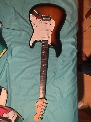 squire stratocaster by fender electric guitar