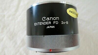 Extender Fd 2X-B Canon Camera Lens Cap Works Japan More Listed