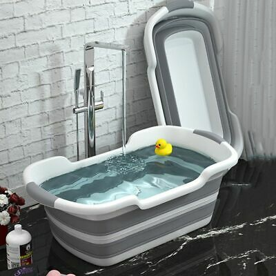 Folding Baby Bath Inflatable Portable Bathtub Newborn Shower Non Slip Safety Tub