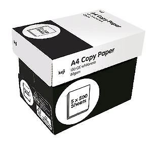 Keji Copy Paper, A4, 80gsm, White, 500 Sheets per Ream, 5 Reams per Carton