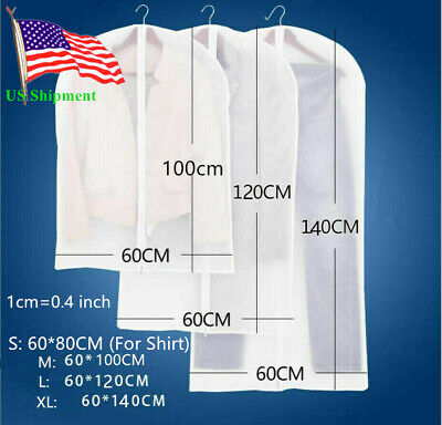 Plastic Clear Dust-proof Cloth Cover Suit/Dress Garment Bag Storage Protector