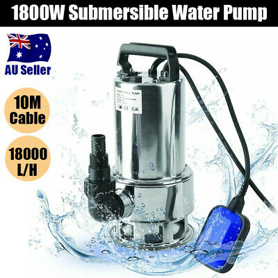 400/550/750W SUBMERSIBLE DIRTY Water Pump Sump Flooding Pond Clean