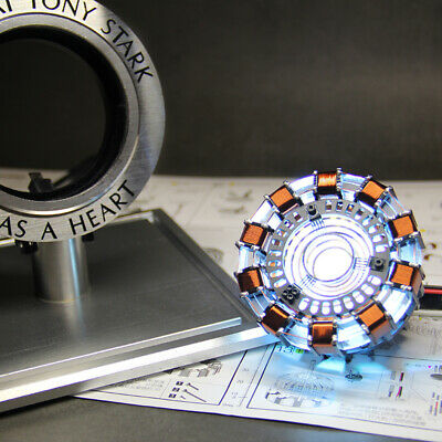 Iron Man Tony Stark Heart  Arc Reactor MKⅠ LED USB DIY Model Material Movie Prop