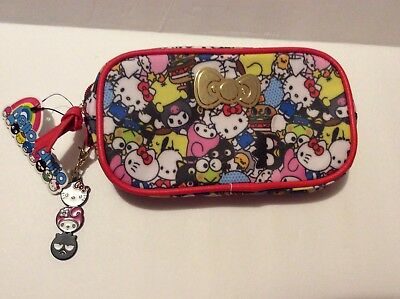 Hello Kitty Sanrio Zip Pouch Makeup Pencil - Loot Crate Exclusive Keychain NWT