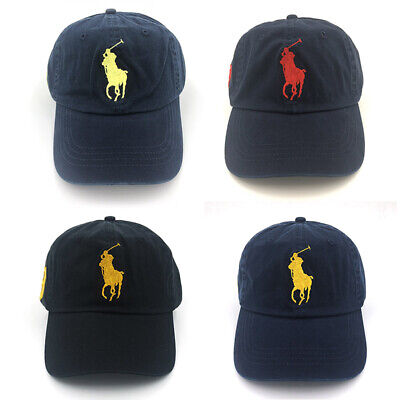 NWT POLO RL Big 3 Pony Baseball Cap Cotton Golf Hat Unisex Classic Visor Sunhat