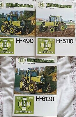Hürlimann Tractor Brochures from the Early 80s
