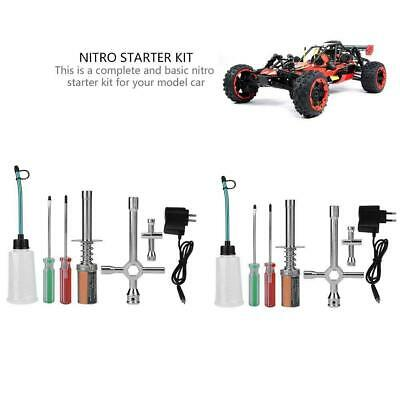 RC Nitro Starter Kit Glow Plug Igniter w/Charger RC Truck Buggy Car for HSP ❤HP