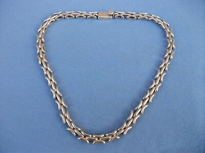 Very Heavy Gorgeous Modernist 925 Solid Silver Necklace.tc~290 Mexico.lovely !