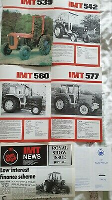 IMT Tractor Brochures from the Early 80s